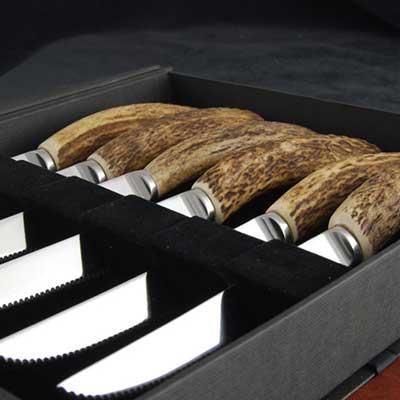 Natural Antler Steak Knife Set
